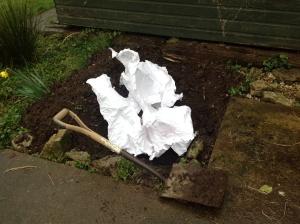 Burying paper